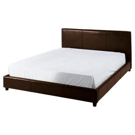 Buy Eden Double Faux Leather Bed Frame Brown From Our Tesco Bed Frame