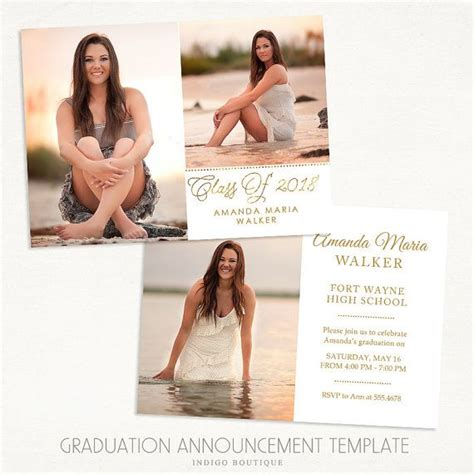graduation announcements templates for photographers 36 best images about graduation announcement templates for