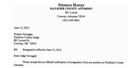 Firm Resignation Letter Faulker County Attorney Resignation Letter Nwaonline