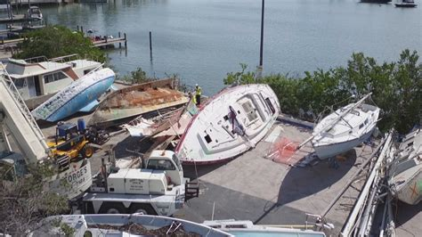 boat salvage yard fort lauderdale cleanup underway for boat graveyard caused by hurricane irma