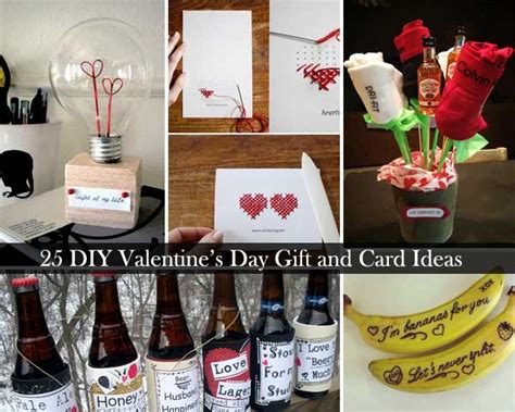 diy valentine gifts 25 simple diy valentines day present and card concepts