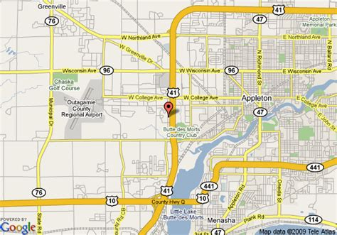 map of appleton wi map of extended stayamerica fox cities appleton