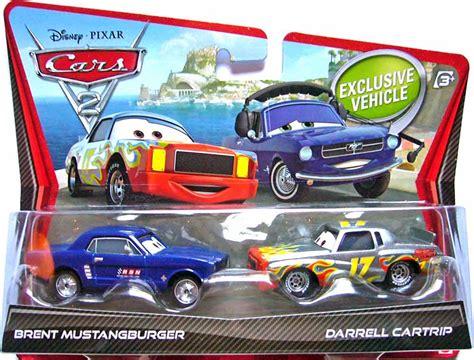 Mattel Disney Pixar Darrel Cartrip Brent Mustangburger Obral Murah world of cars base de donn 233 es des voitures 233 dit 233 es par