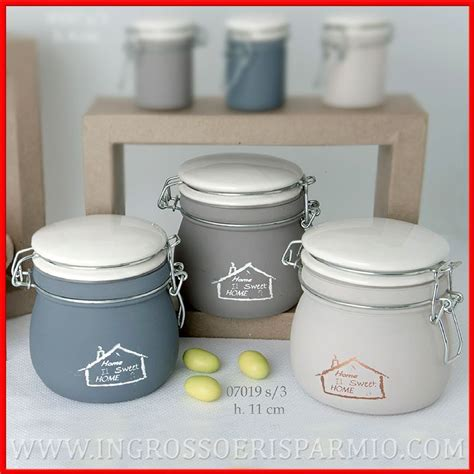 vasi ermetici vetro barattoli in vetro e porcellana porta spezie sale zucchero
