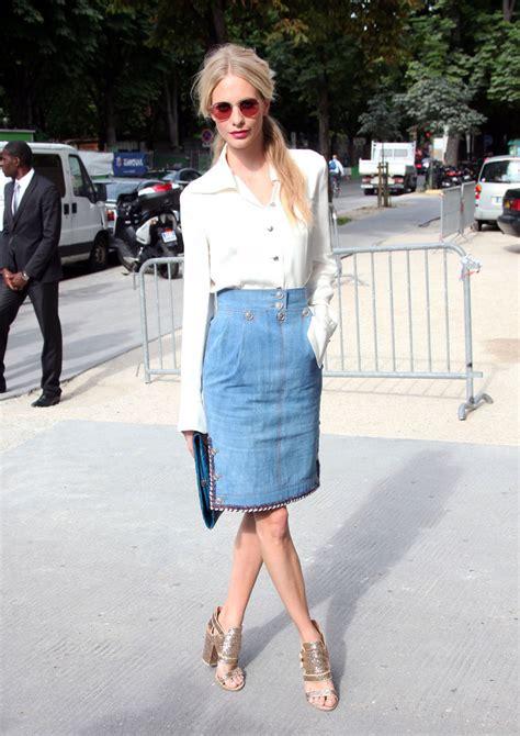 poppy delevingne denim skirt denim skirt lookbook