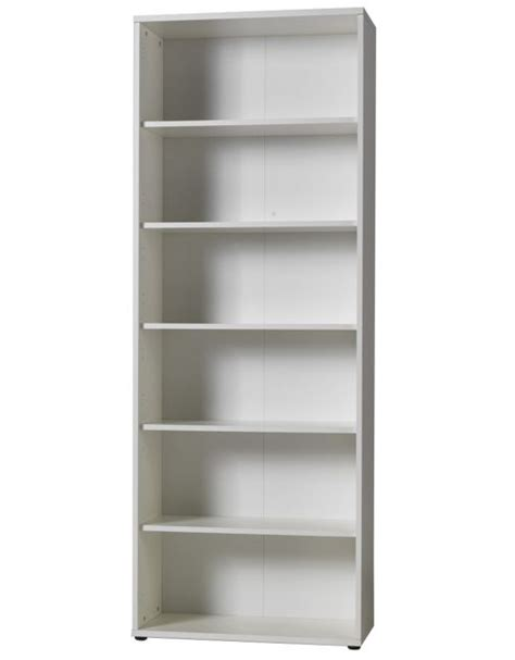 melamine bookshelves buy modal mura five shelf bookcase in white melamine 80cm from our bookcases display units