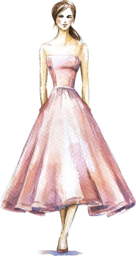 design free clothes hand drawn fashion women illustration vector 11 vector