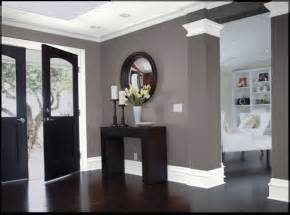 dark wood gray walls and white trim i love this we dining room with dark grey feature wall dining room
