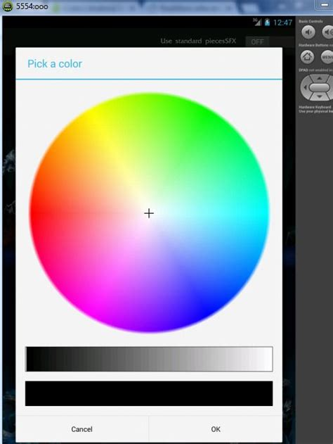 android color picker android color picker not working as intended stack