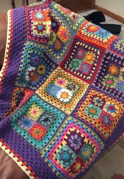 crochet mantas manta colorida cuadrados crochet crochet knit lover