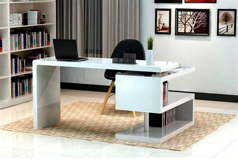 white modern office furniture modern white gloss office desk sj33 desks