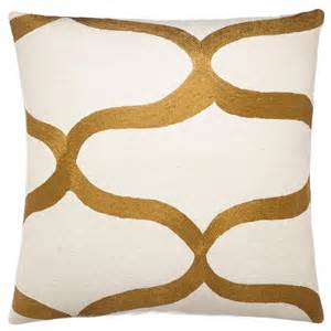 embroidered chain stitch pillows 18x18 waves