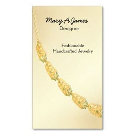 Handmade Jewelry Business Business Card - jewelry business cards business cards logos