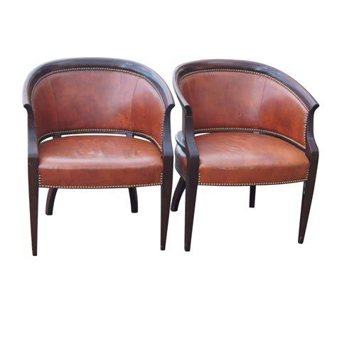 Accent Arm Chairs 2 Hickory James River Tub Accent Arm Chairs Ebay