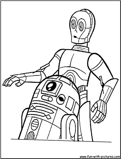 C3po R2d2 Coloring Page C3po Coloring Page