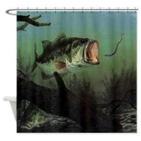 bass fishing shower curtain 1000 images about fishing decor on pinterest bass bass
