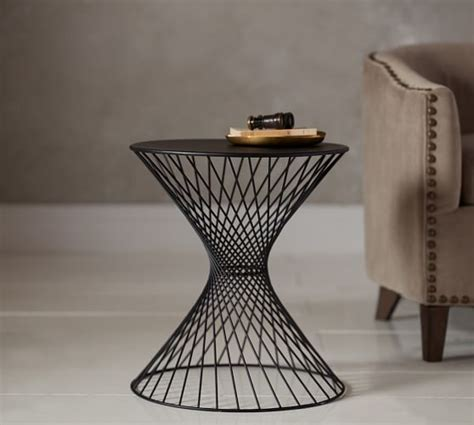 Wire Side Table Porter Wire Accent Side Table Pottery Barn