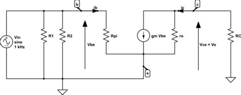 equivalent transistor ac 125 transistors develop an ac equivalent circuit electrical engineering stack exchange