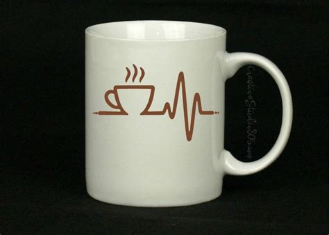 cute coffee cups coffee heartbeat coffee mug cute coffee mug coffee