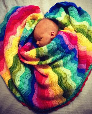 Rainbow Crochet Baby Blanket by Rainbow Ripple Crochet Blanket Pattern Tutorial