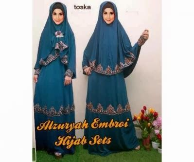 Gamis Maxi Dress Murah Azka Set Wolfice All Size Fit L Marun grosir murah gamis maxi fashion gamis syar i alzuryah set bergo