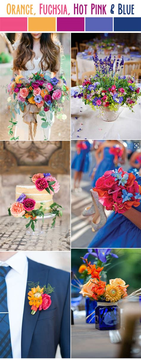 10 best wedding color palettes for summer 2017