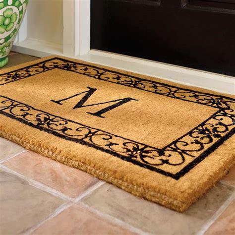 Doormat With Initial by Wayland 3 Initial Monogrammed Door Mat Frontgate