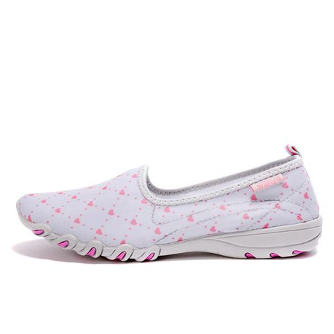 breathable athletic shoes slip on stretch fabric