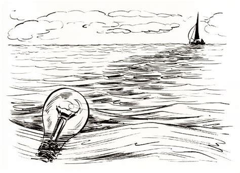 boat ocean drawing how to draw ocean www pixshark images galleries