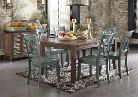 mestler dining table with 6 chairs and sideboard