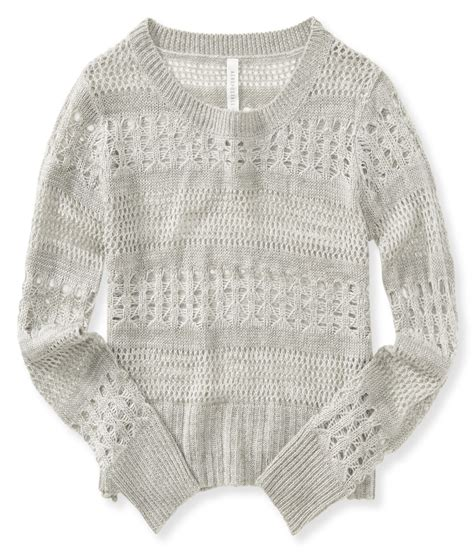 Sweater Aeropostale Aeropostale Womens Open Knit Pullover Sweater Ebay