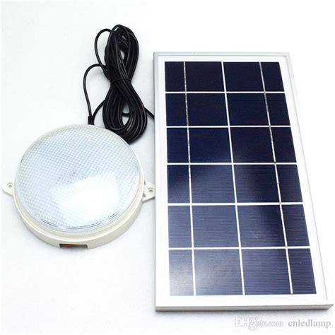 2017 8w solar ceiling light with remote and
