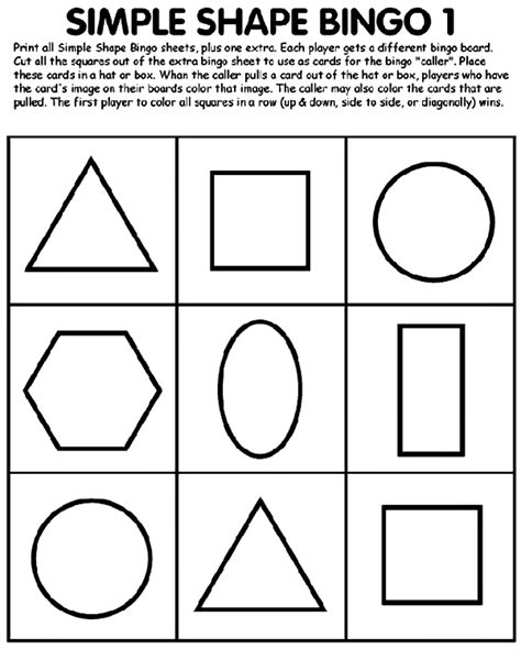 shape template for cards simple shape bingo 1 crayola co uk
