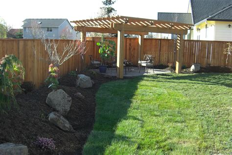 landscaping the backyard pergolas contractor design construction vancouver wa