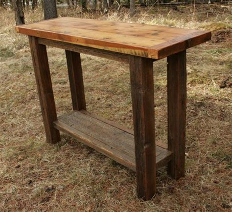 barnwood sofa table rustic reclaimed barnwood sofa table