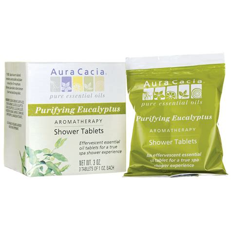 Eucalyptus Shower Tablets aura cacia shower tablets purifying eucalyptus 3 ct swanson health products
