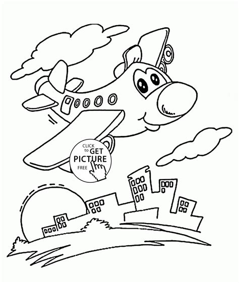coloring pages for preschoolers plane city coloring page for preschoolers