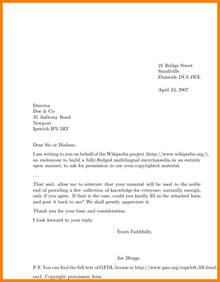 5 letter address example ledger paper