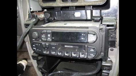 airbag deployment 2004 dodge grand caravan navigation system installation of an aftermarket stereo in a 2001 dodge grand caravan youtube