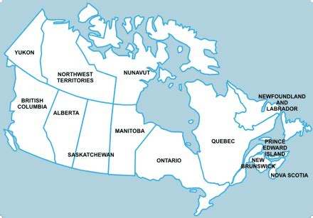 canadian map of provinces and territories canada s provinces and territories