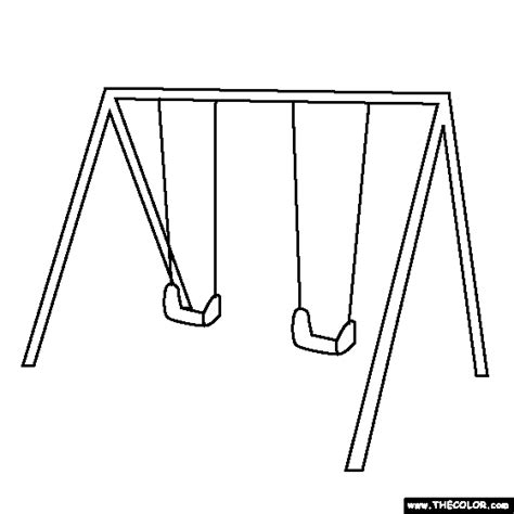 swing set drawing free online coloring pages thecolor