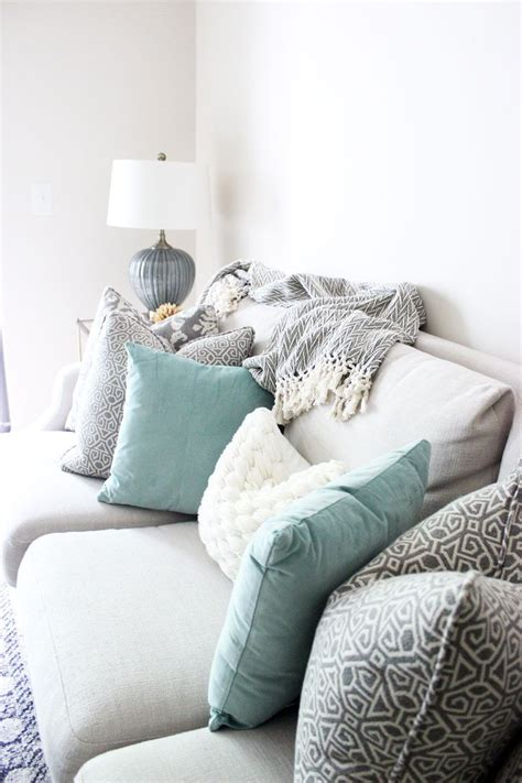 white sofa throw pillows bright white living room printed pillows neutral