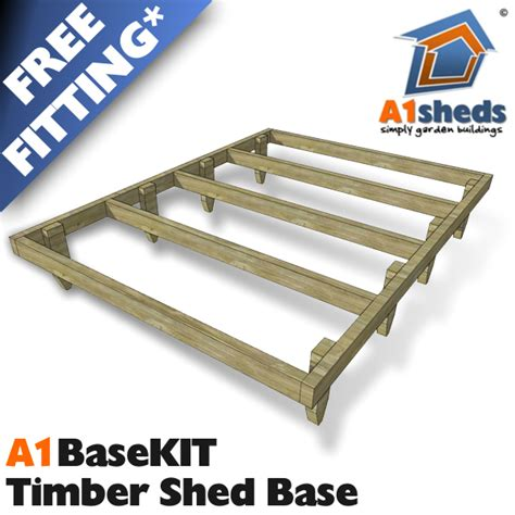 Timber Shed Base by A1 Basekit Timber Frame Shed Base