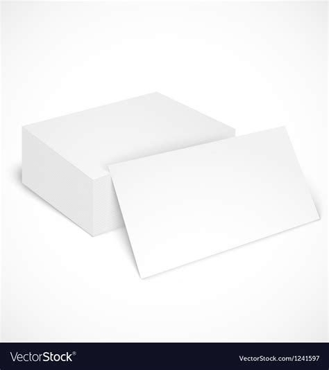 free shadow box card template stack of business cards with shadow template vector image