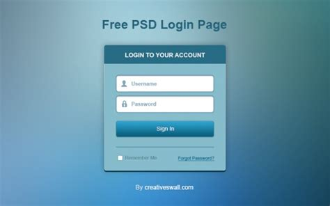 free templates for login page login page design psd www pixshark images