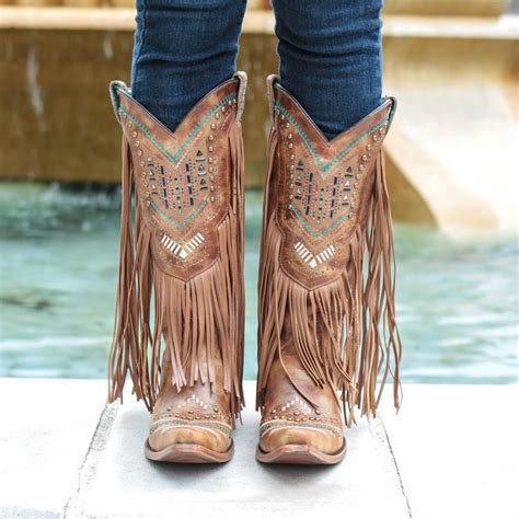 corral fringed boots d d outfitters