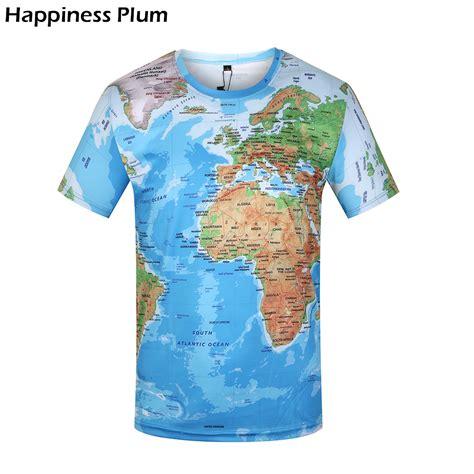 Tshirt World Map kyku brand 3d t shirt world map t shirt t shirts