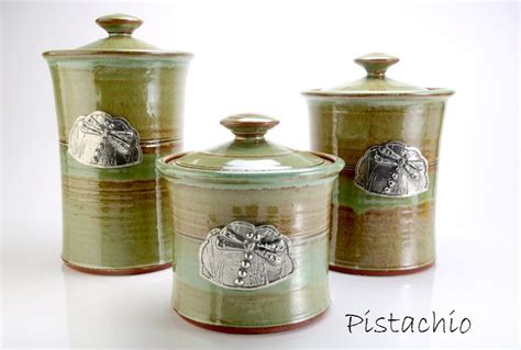 canister sets etsy canister set dragonfly by oregonstoneware on etsy