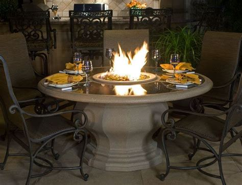 Patio Firepit Table Outdoor Living Pit Table For The Home