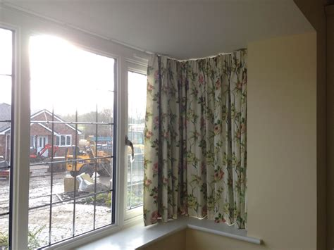 bay window curtain ideas curtain track in square bay window livingroom